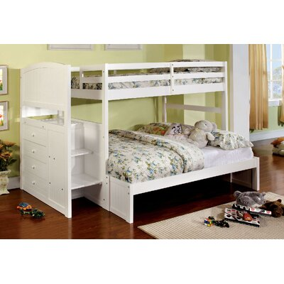 Moses Twin Over Full Bunk Bed Harriet Bee Bed Frame Color: White