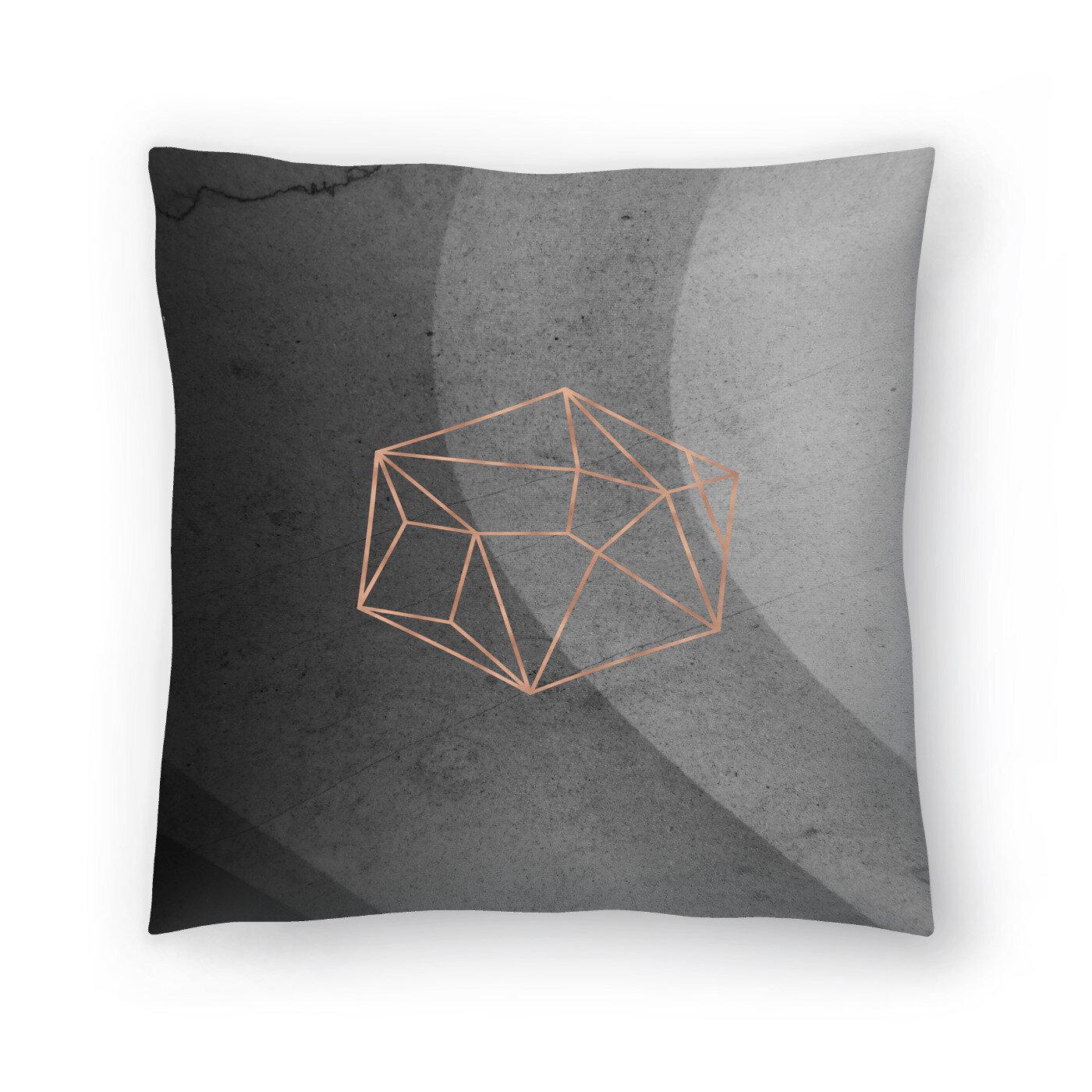 East Urban Home Geometric Solids On Marble Throw Pillow Wayfair