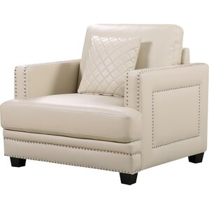 Dia Nailhead Club Chair and Ottoman by Willa..