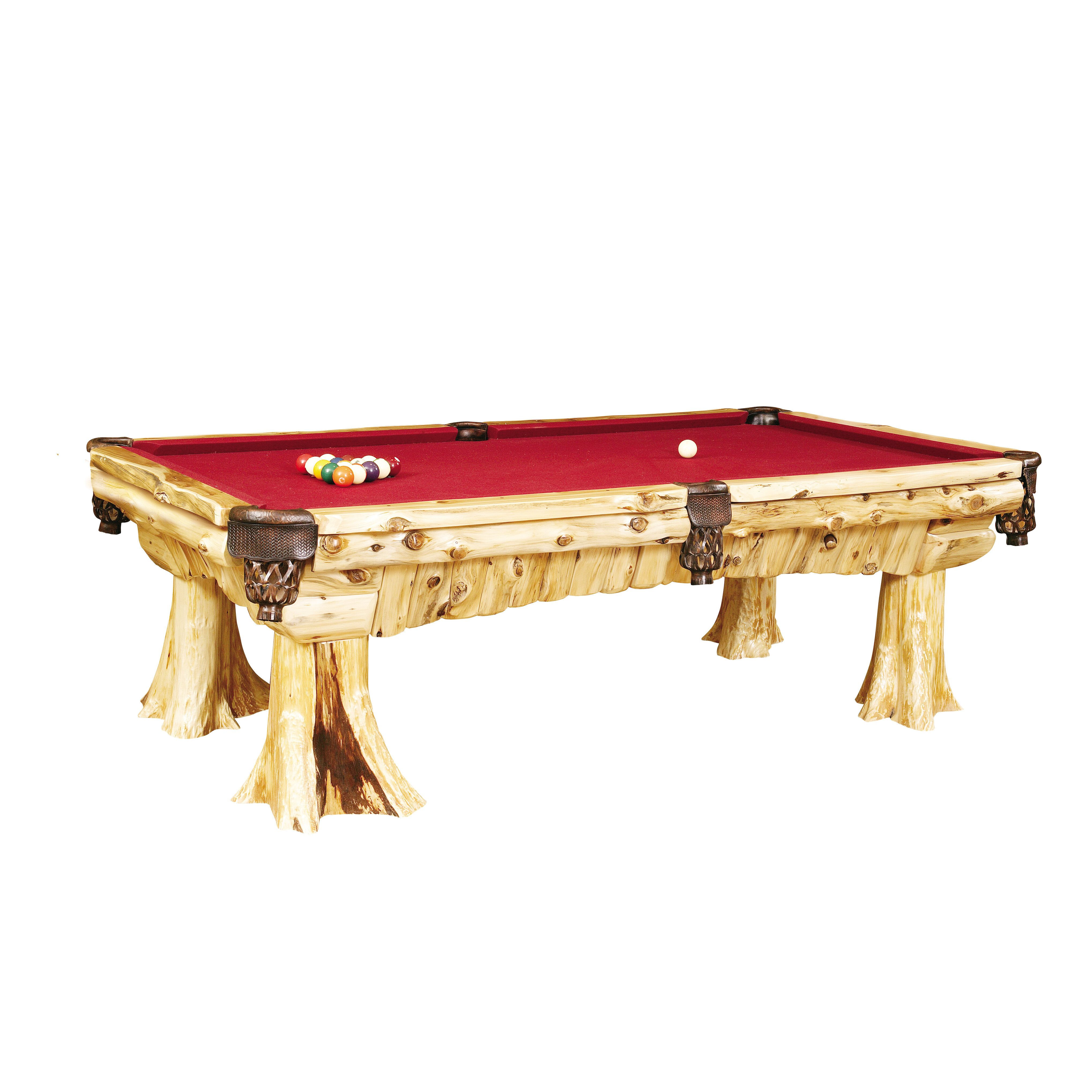 Amazing Traditional Cedar Log 8 Slate Pool Table Download Free Architecture Designs Licukmadebymaigaardcom