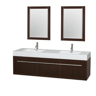 Axa 72 Double Espresso Bathroom Vanity Set with Mirror by Wyndham Collection