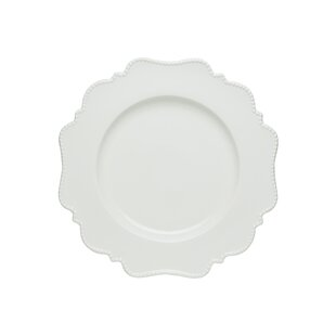 Pinpoint White Dinner Plate (Set of 4)  sc 1 st  Wayfair & Off White Dinner Plates | Wayfair