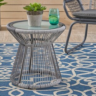 Lindholm Outdoor Wicker Side Table