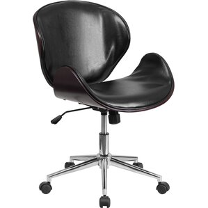 midback leather conference chair with swivel