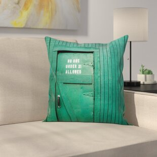 Vintage Back Door Theme Square Pillow Cover by East Urban Home