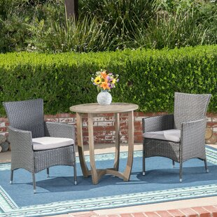 Ivy Bronx Matos 3 Piece Bistro Set with Cushions