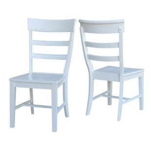 Salsbury Solid Wood Dining Chair (Set of 2) by Breakwater Bay