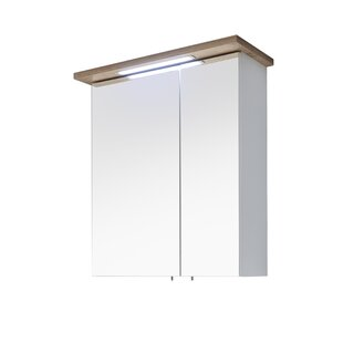 Noventa 60 X 72cm Mirrored Wall Mounted Cabinet By Quickset