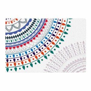 Famenxt 'Tribes Vibes Mandala' Pattern White Area Rug