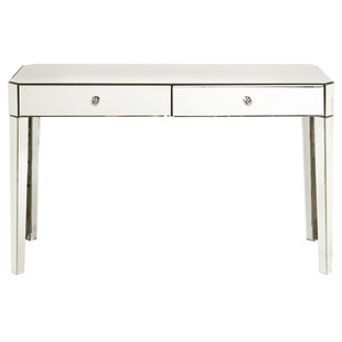 Mccollom Mirrored 2 Drawer Desk