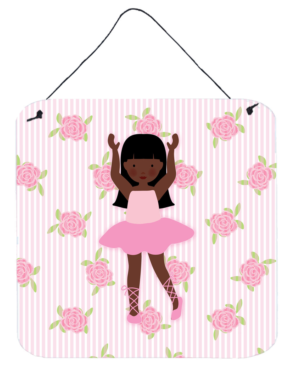 Harriet Bee Ballerina African American Long Hair Aluminum Wall Decor