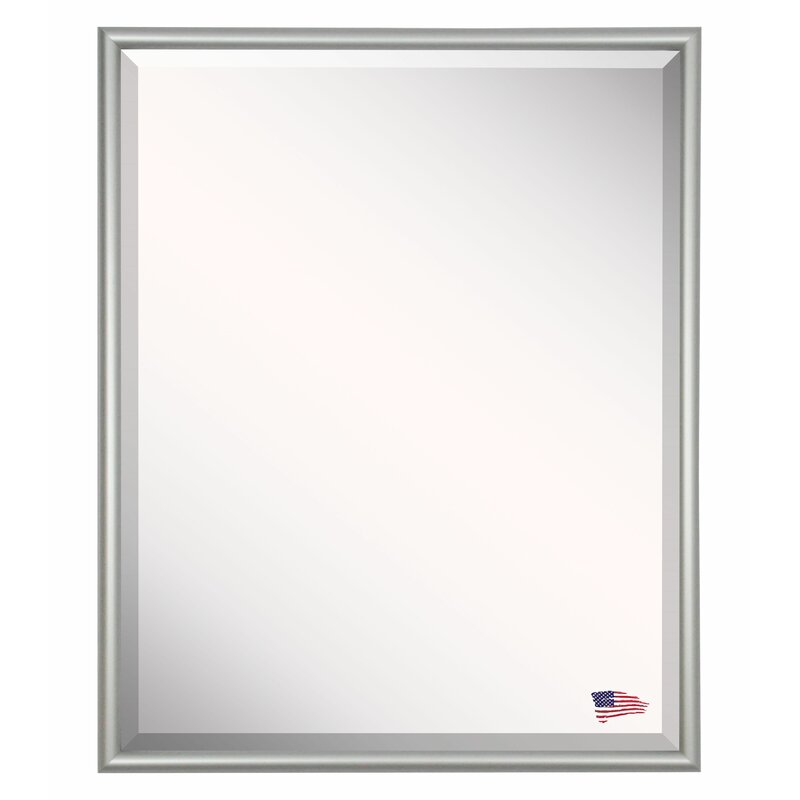 Darby Home Co Satin Metal Framed Wall Mirror Wayfair