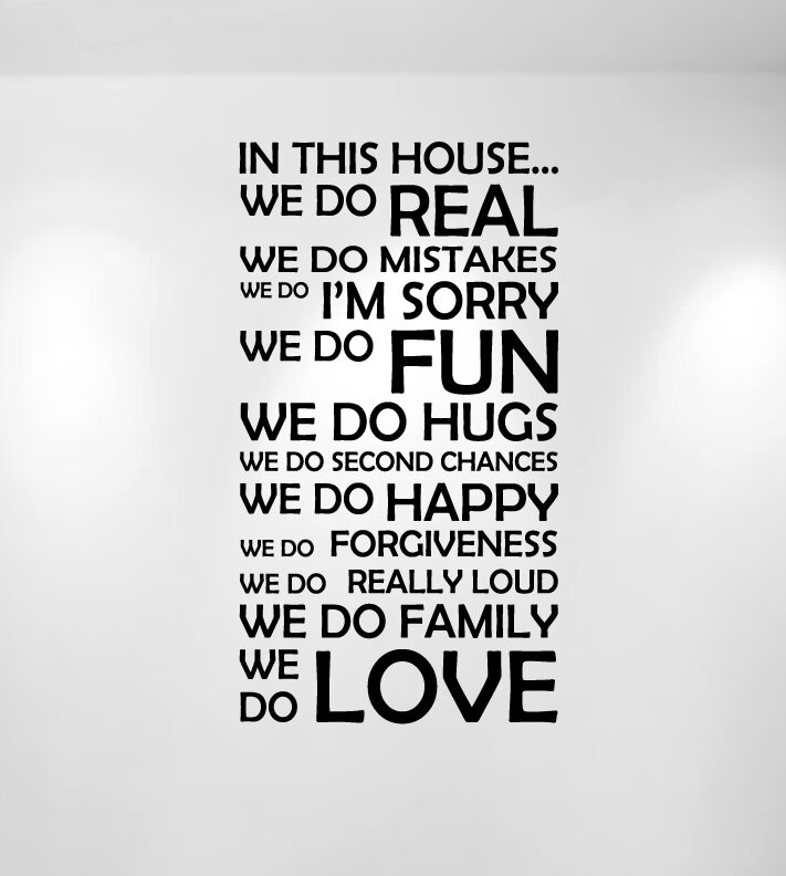 Quote About Family | Innovative Stencils In This House We Do Family Quote Wall Decal