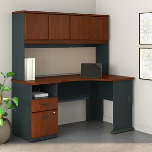 Read Reviews Series A L Shaped Corner Desk with Hutch by Bush Business Furniture
