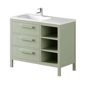 Amazonia Solid Pine 1000mm Single Vanity Unit By Bathforte, S.L