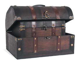 Breakwater Bay Yarber 2 Piece Chests Trunk Set with Leather Straps and Liner