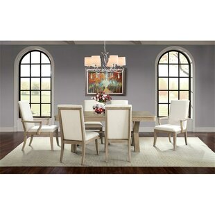 Almazan 7 Piece Solid Wood Dining Set One Allium Way
