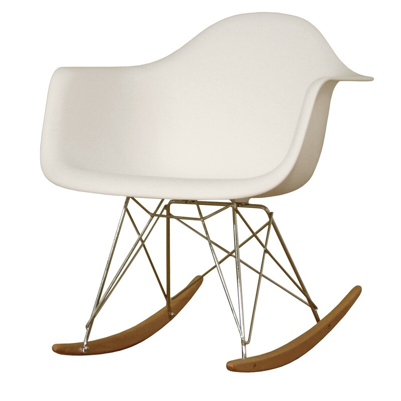 baxton studio mid century modern rocking chair reviews joss main