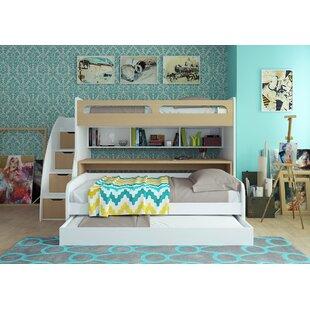 Gautreau Twin Bunk Bed over Full XL Sofa Bed, Table and Trundle By Brayden Studio