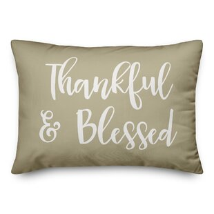 Northup Thankful & Blessed Lumbar Pillow