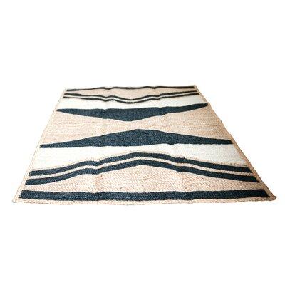 Union Rustic Conaway Triangular Print Beige/Black Area Rug