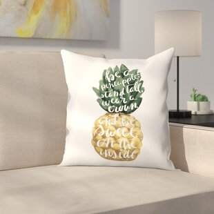 Jetty Printables Stand Tall Pineapple Art Throw Pillow