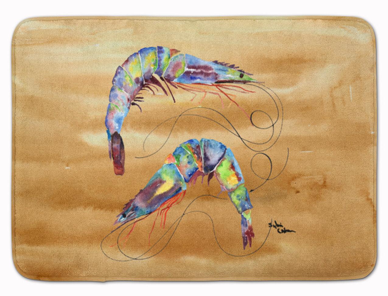 Longshore Tides Odin Shrimp Rectangle Microfiber Non Slip Bath Rug Wayfair