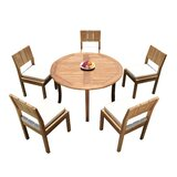 andish 6 Piece Teak Dining Set