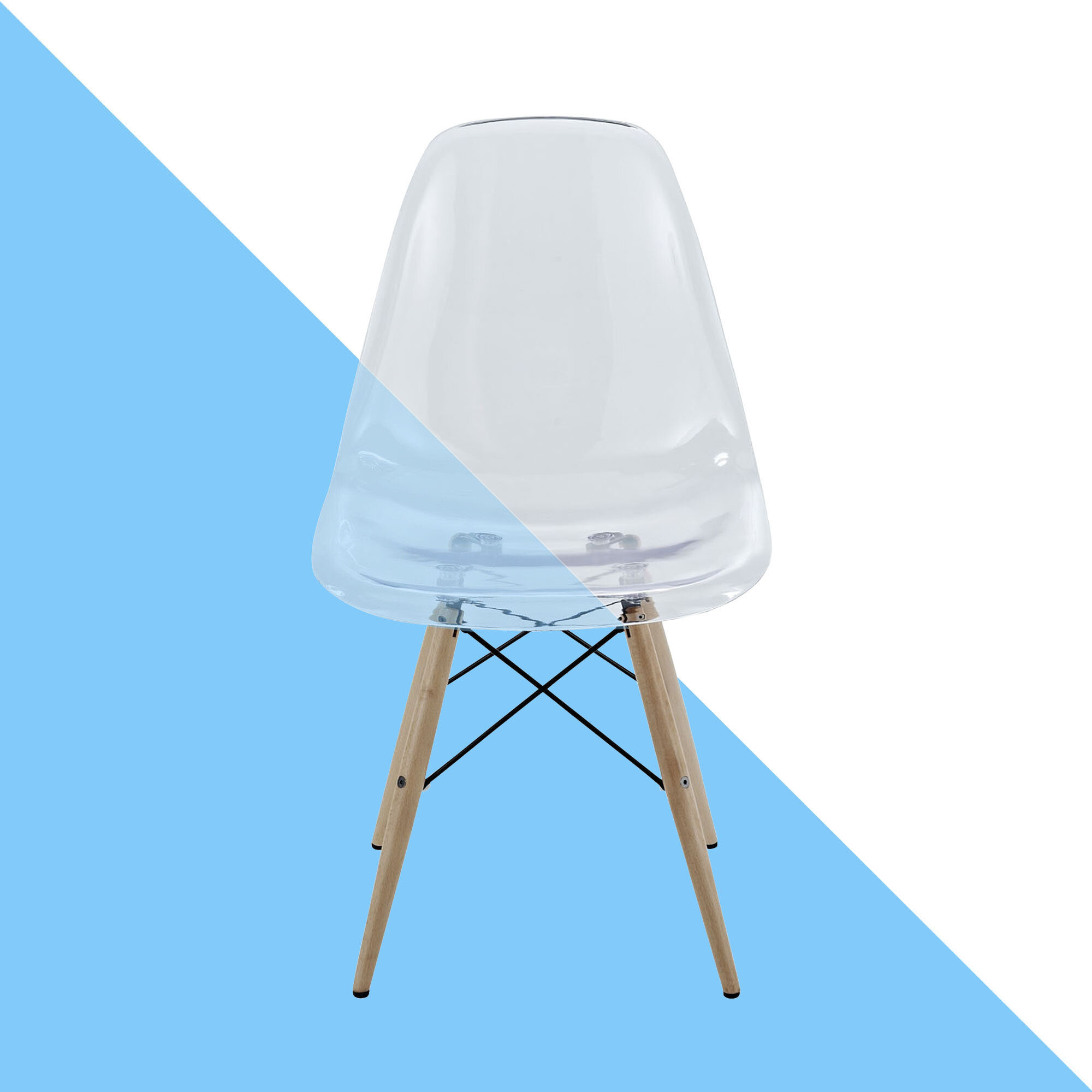Hashtag Home Conyers Solid Wood Side Chair In Clear Wayfair