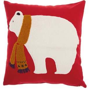 Leboeuf Polar Bear Cotton Throw Pillow