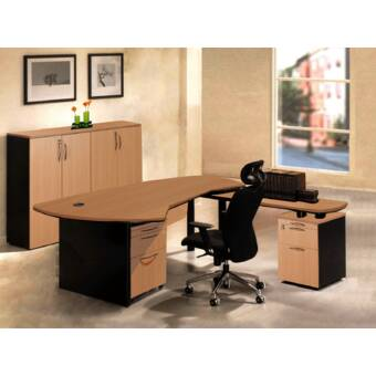 OfisELITE Executive Management 6 Piece Office Set | Wayfair.ca