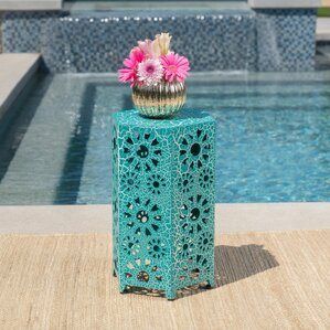 Balentine Outdoor Iron End Table by Ebern Designs