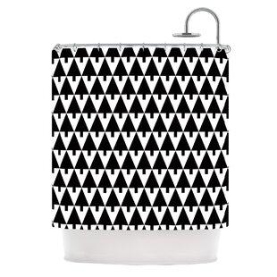 Happy X-Mas by Gabriela Fuente Geometric Single Shower Curtain