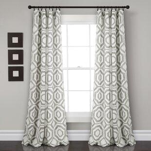 Drouin Octagon Blocks Room Darkening Rod Pocket Curtain Panels (Set of 2) by Corrigan Studio