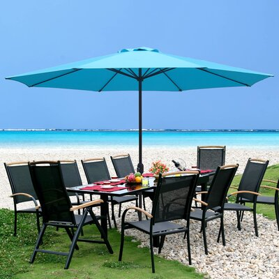 Lora Steel 11 Market Umbrella by Bay Isle Home #2