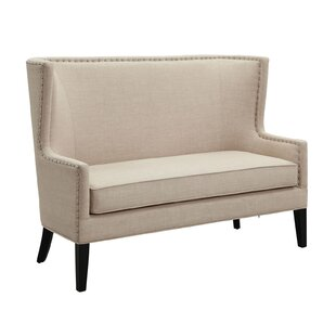 Shop Bender Nail Head Trim Standard Loveseat by Alcott Hill
