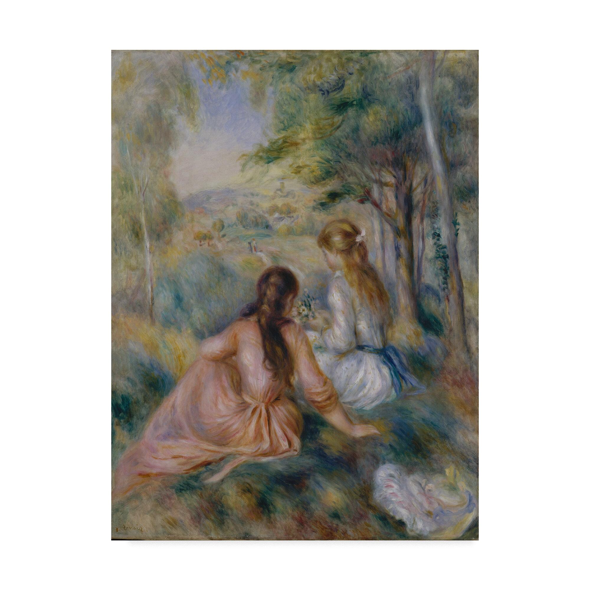 A girl asleep by Pierre-Auguste Renoir Giclee Fine ArtPrint Repro on Canvas