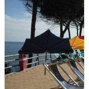 Silverview 1.4m Beach Parasol By Freeport Park