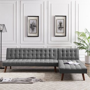 100 Linen Reversible Sleeper Sofa  Chaise