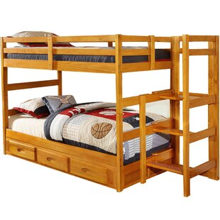 Hinnenkamp Twin over Twin Bunk Bed with Storage by Zoomie Kids