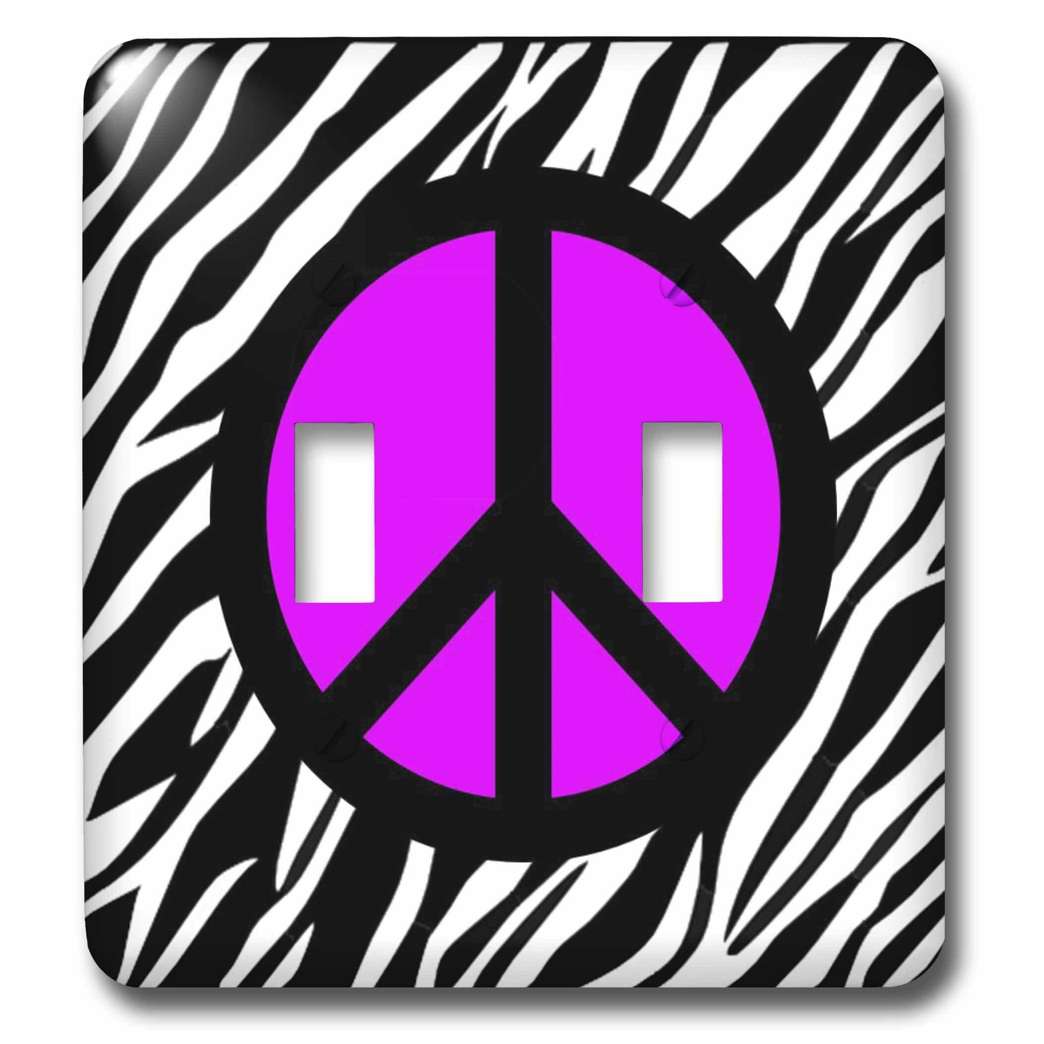 3drose Peace Sign 2 Gang Toggle Light Switch Wall Plate Wayfair