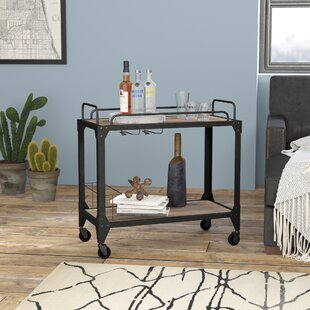 Crompton Industrial Bar Cart by 17 Stories