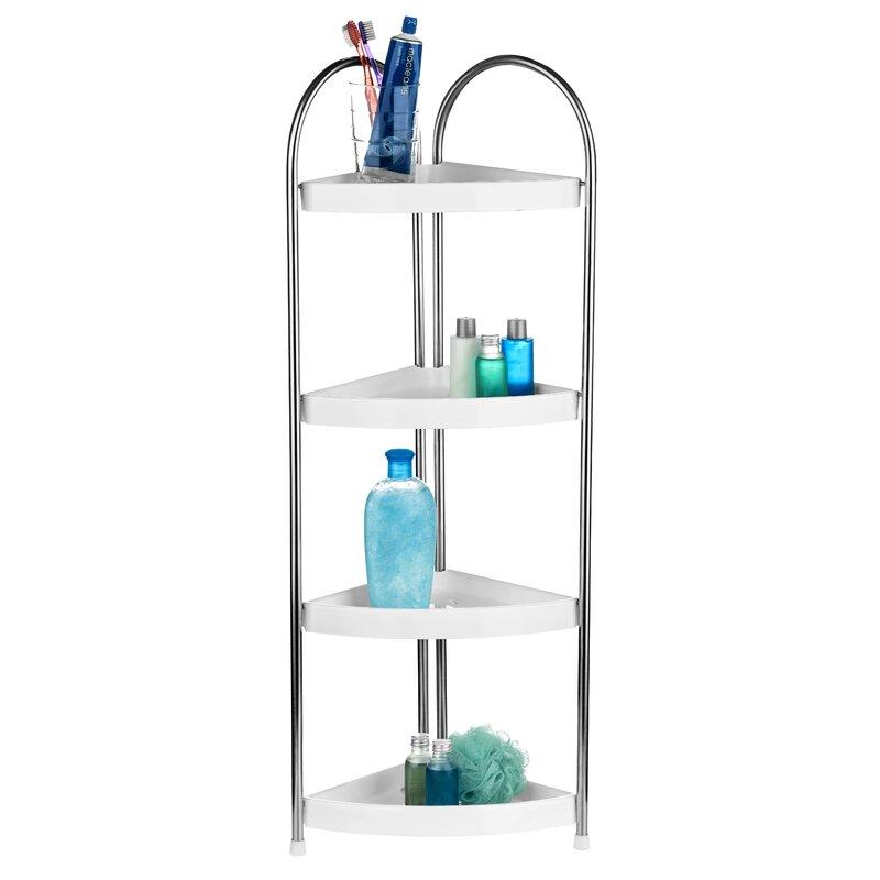 Wayfair Basics 4 Tier Corner Bathroom Shelf Unit & Reviews   Wayfair ...
