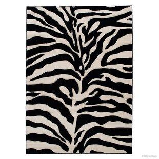 Read Reviews Zebra Black/Beige Area Rug ByAllStar Rugs