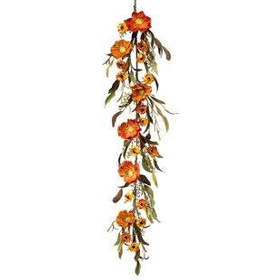4' Poppy and Marigold Leaf Garland