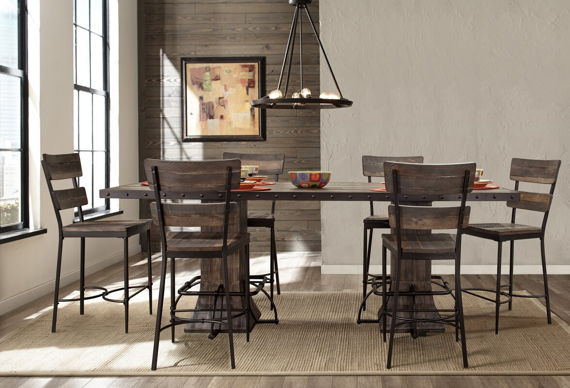 Superior Cathie 7 Piece Counter Height Dining Set