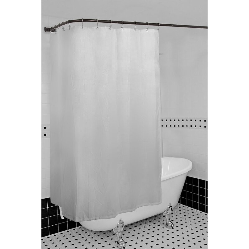 Aluminum Rustproof 66 L Shaped Fixed Shower Curtain Rod