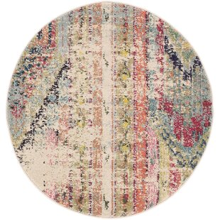 Newburyport Power Loom Polypropylene Orange/Blue/Pink Area Rug by Mistana