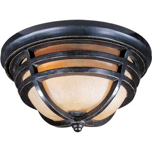 Price Check Portola 2-Light Outdoor Flush Mount By Loon Peak