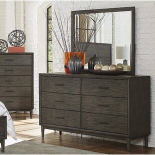Wrought Studio Beaverton 6 Drawer Double Dresser with Mirror Image